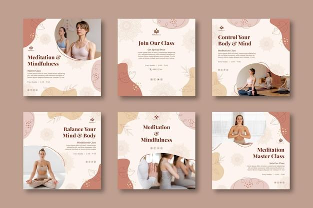 Posty na instagramie z medytacją i uważnością