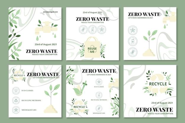Posty na instagramie zero odpadów
