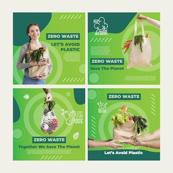 Posty na instagramie zero waste