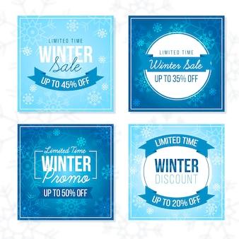 Posty na instagramie zimowej wyprzedaży