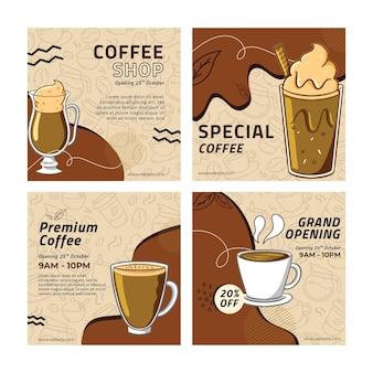 Posty z kawiarni na instagramie