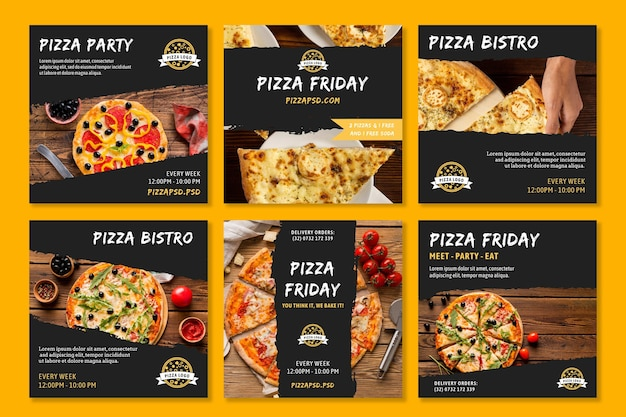 Posty z pizzerii na instagramie