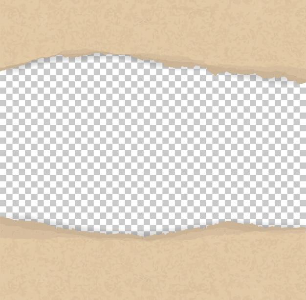 Poszarpane papierowe krawędzie dla tła