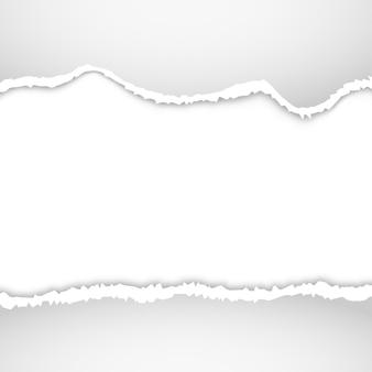 Poszarpane tło papieru. ripped edge design ilustracji podartego papieru