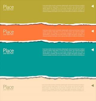 Poszarpany papierowy tło z przestrzenią dla teksta