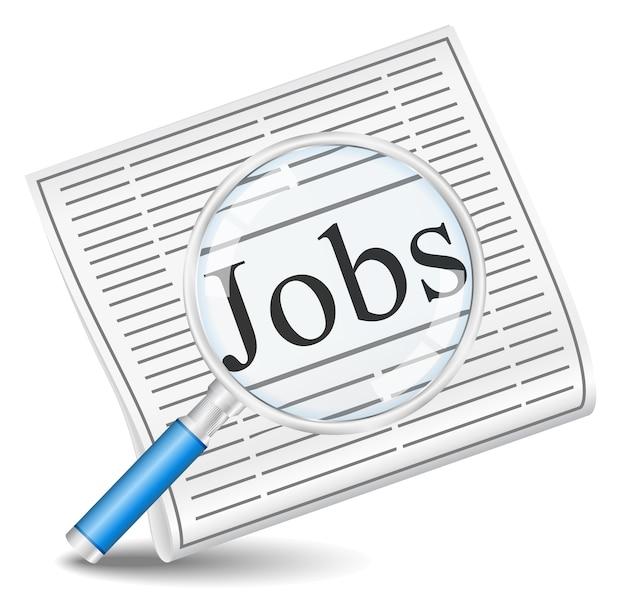 Poszukiwanie pracy w gazecie