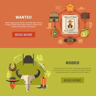 Poszukiwany bandyta i banery rodeo