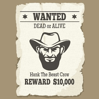 Poszukiwany martwy lub żywy plakat zachodni
