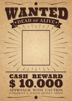 Poszukiwany plakat westernowy