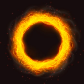Potężne płomienie ognia pierścienia