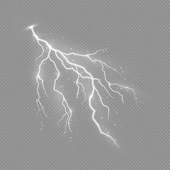 Potężne wyładowanie elektryczne podczas burzy