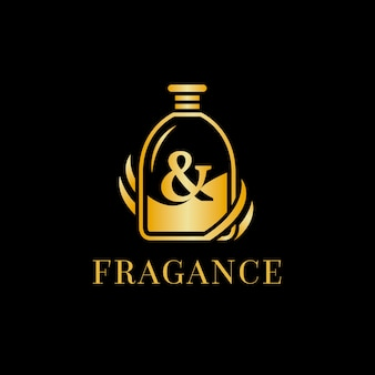 Potężny eliksir perfumy szablon logo tożsamości korporacyjnej