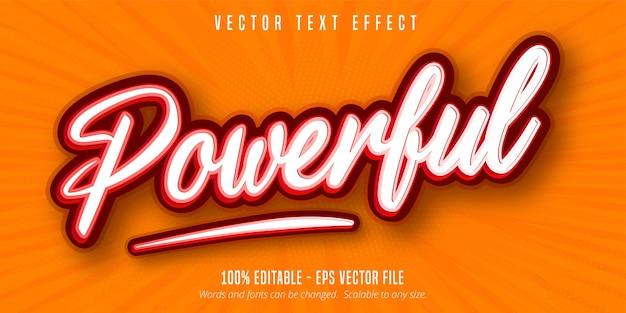 Potężny tekst, edytowalny efekt tekstowy w stylu pop-art