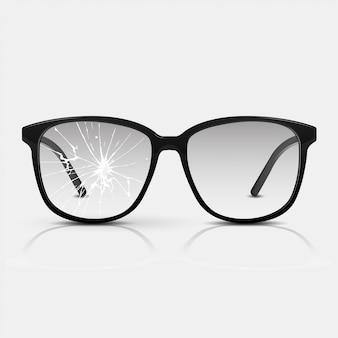 Potłuczone okulary.