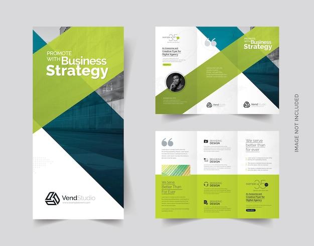 Potrójna broszura creative clean