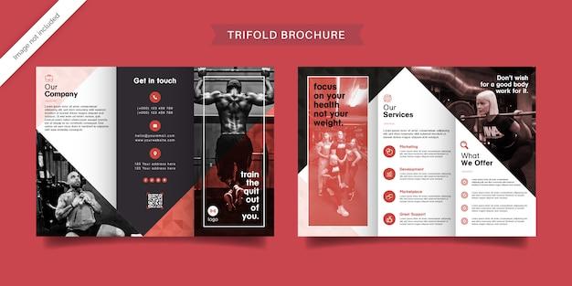 Potrójna broszura fitness