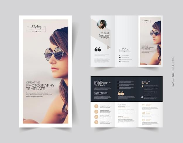 Potrójna broszura o kreatywnej fotografii