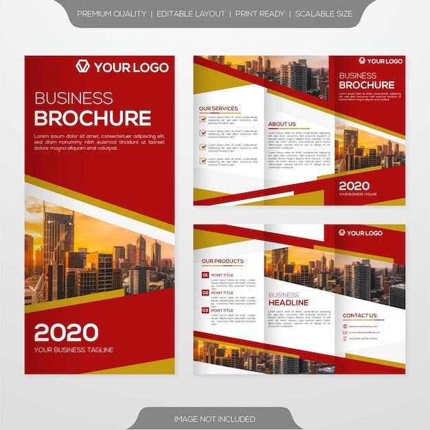 Potrójny minimalistyczny szablon broszury