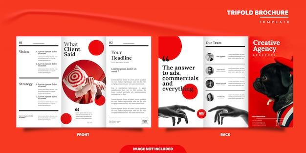 Potrójny projekt broszury agencji kreatywnej