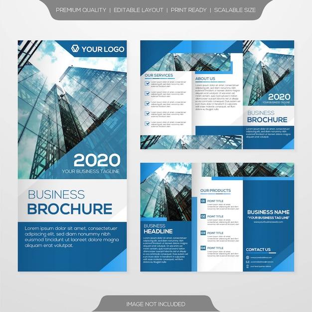 Potrójny szablon broszura biznesowa