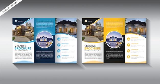 Potrójny szablon broszury dla układu ulotki