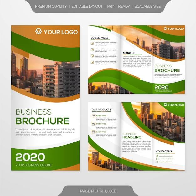 Potrójny szablon broszury