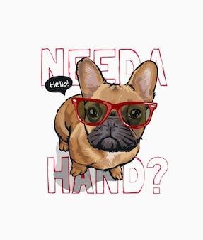 Potrzebny jest slogan z uroczym psem w okularach przeciwsłonecznych