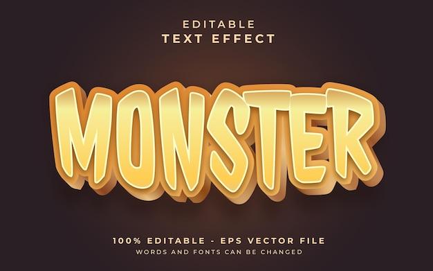 Potwór edytowalny efekt tekstowy efekt tekstowy
