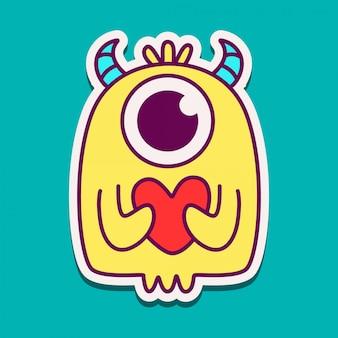 Potwór kreskówka doodle projekt