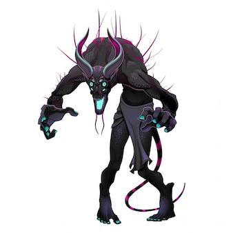 Potwór z ciemnymi kolorami