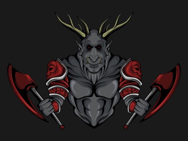 Potwór z dwoma toporami
