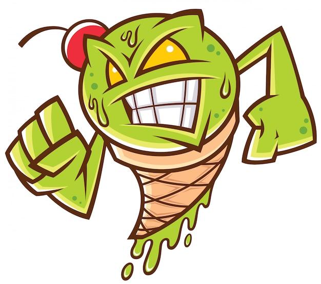 Potwór z zielonych lodów