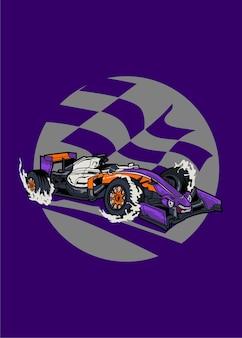 Potworny samochód formuły 1