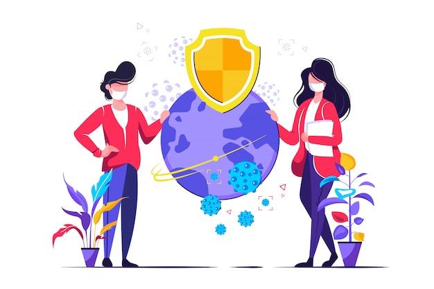 Poufność bezpieczeństwa technologia cyfrowa, kontrola dostępu, koncepcja wirusa
