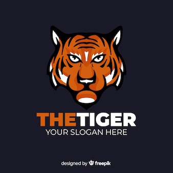 Poważne logo tygrysa