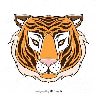 Poważny tygrysi tło