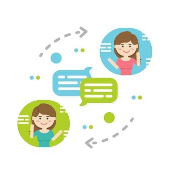 Powiadomienia o nowych czatach, sieci społecznościowe, wiadomości, dymki