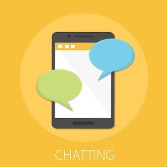 Powiadomienia o wiadomościach czatu na smartfonie