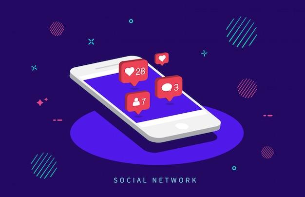 Powiadomienia w mediach społecznościowych.