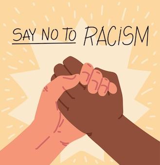 Powiedz Nie Plakatowi O Rasizmie Premium Wektorów