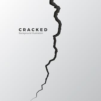 Powierzchnia spękana. szkic pęknięcia tekstury. podzielony teren po trzęsieniu ziemi. ilustracja