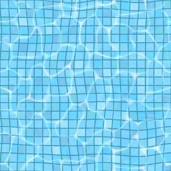 Powierzchnia woda w pływackim basenie, bezszwowy wzór.