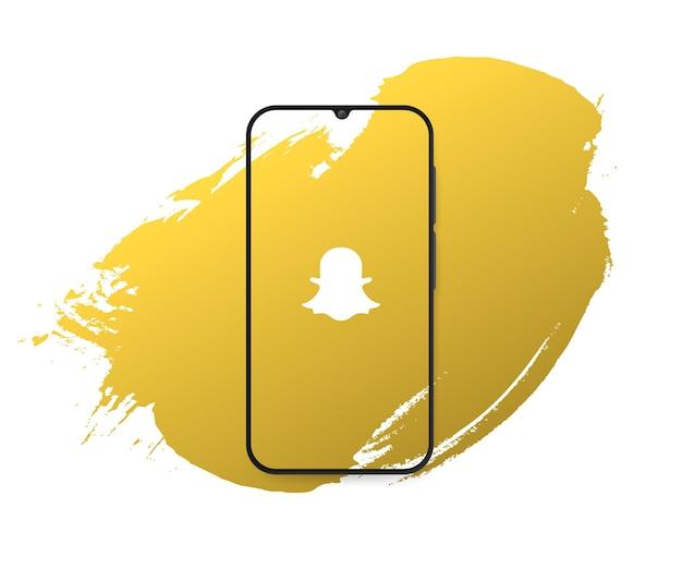 Powitalny snapchat w mediach społecznościowych