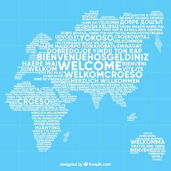 Powitalny wzór w różnych językach