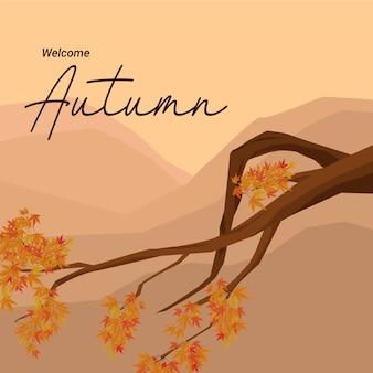 Powitanie jesieni tło