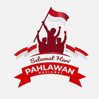 Powitanie projektu szablonu hari pahlawan nasional