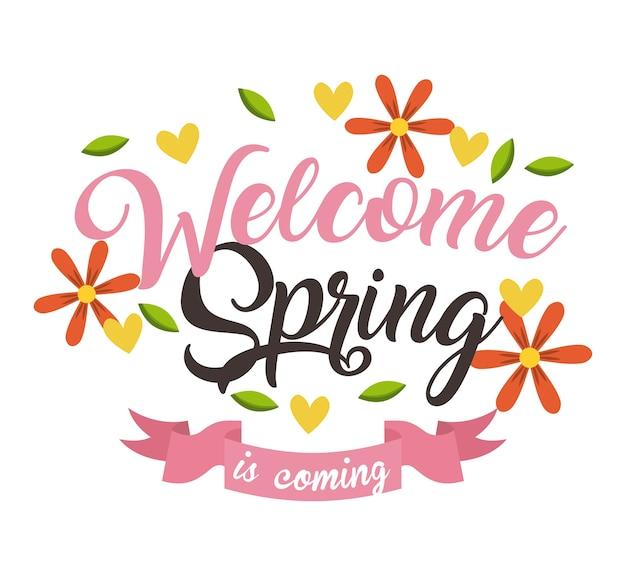 Powitanie wiosennej kartki