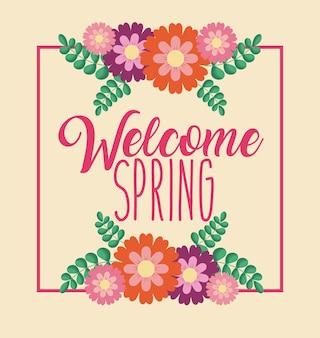 Powitanie wiosny powitanie karta