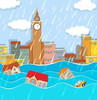 Powódź w wielkim mieście