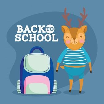 Powrót do edukacji szkolnej śliczna wiewiórka z torbą